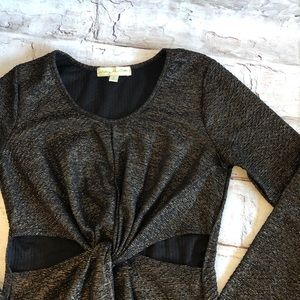 UO Staring at Stars twist front bodycon dress